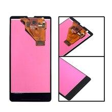 """4.6 """"Original para Sony Xperia ZR M36h C5502 C5503 Monitor LCD Monitor LCD Do Painel de Vidro Digitador Assembléia com Frame ferramentas gratuitas"""