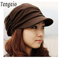 New Korean Style summer hats for women Sun Hat Spring Fashion Cotton Pleated Cap Floppy Hat For Woman Bonnet Fille sunhat