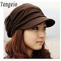 Novo Estilo Coreano verão chapéus para mulheres Chapéu de Sol de Primavera moda Algodão Plissado Cap Bonnet Floppy Hat Para A Mulher Fille sunhat