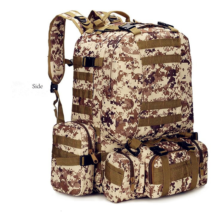 Купить с кэшбэком 55L Men's Travel Backpack Oxford cloth outdoor backpack army camouflage tactical backpack mountaineering combination backpack