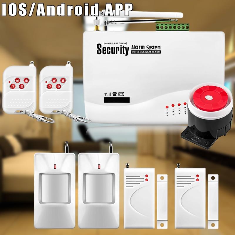 ФОТО Chuangkesafe 53Kit Home Alarm Systems , Wireless GSM SMS Burglar PIR Voice APP Remote Control Set Arm/Disarm