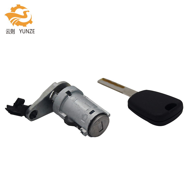 LEFT DOOR LOCK BARREL WITH ONE KEY WITH GROOVE FOR NEW PEUGEOT 307
