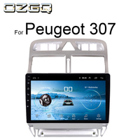 OZGQ Radio Car Android 8.1 System 9'' Touch Screen Multimedia Navigation For Peugeot 307 2002 2013 With Wifi GPS WIFI