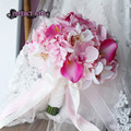 Artificial bouquet PINK bouquet wedding ramo de novia bouquet fleur mariage bruidsboeket bridal bouquet Bridesmaid Flowers