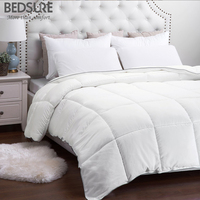 Bedsure Warm New Full Filling Solid Duvet High Quality White Down Duet Breathable Down Alternative Comforter