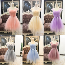 Bridesmaid Dresses Purple Cheap Girl Short Bridesmaid Dress White Pink Grape For Wedding Guests Sister Plus Size Party Dress