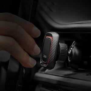 Image 4 - HOCO CA23 Evrensel Manyetik 360 Derece Rotasyon PU Deri araç tutucu Hava Firar telefon tutucu Standı iphone braketi X