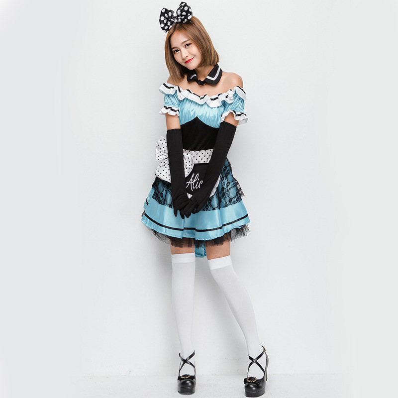 Umorden Delightful Cute Alice Costume for Teen Girls Women Halloween Alice in Wonderland Costumes