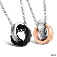 Jewelry Gift New Personality Love Pendant 316L Stainless Steel For Women Man Jewelry Not Fade GX557