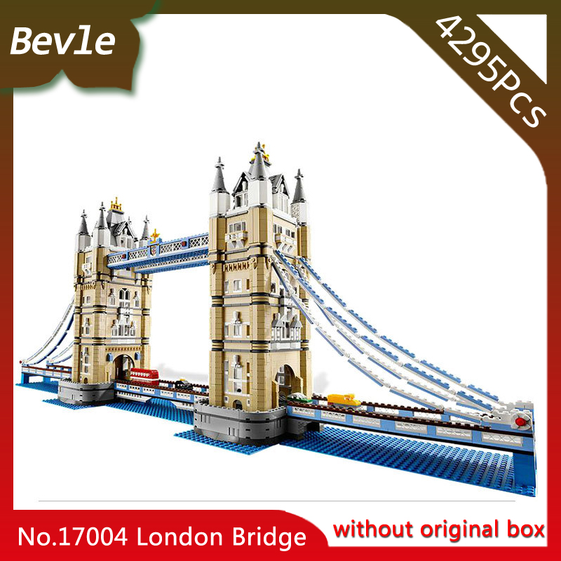 Bevle Store LEPIN 17004 4295pcs Street View Series London Bridge Building Kits s Blocks Bricks For Children Toys 10214 Gift compatible lepin city mini street view building blocks chinatown satin silk store with saleman figures toys for children gift