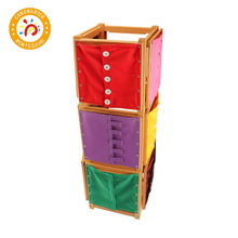 Montessori Material Wooden Toy Dress Frame Daily Learning Teaching Aids For Children Kid
