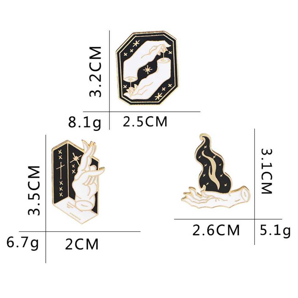 1PC Jari Bros Denim dan Amerika Karakter Kreatif Eropa Kemeja Lencana Hadiah Jaket Pin Koboi Pakaian Wizard