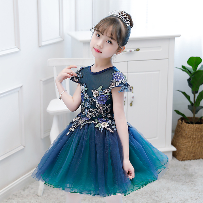 Luxury Flower Girl Dresses Floral Ball Gown Kids Pageant Dress for Birthday Costume Girls Formal Dress Prom Dress for 1-12Y B171Luxury Flower Girl Dresses Floral Ball Gown Kids Pageant Dress for Birthday Costume Girls Formal Dress Prom Dress for 1-12Y B171