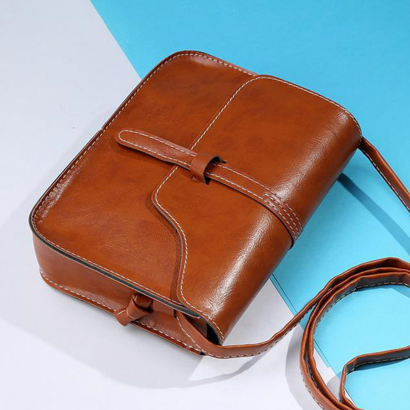 Fashion Women Handbag PU Leather Crossbody Messenger Bag Vintage Shoulder Bags Briefcase Popular