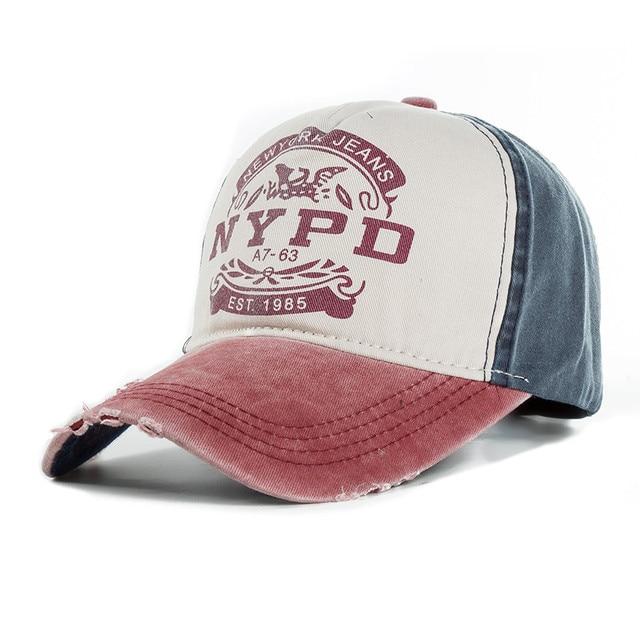 836f55e7 fashion snapback recreation washed retro baseball cap NYPD alphabet male  ladies truck driver sports hat bone