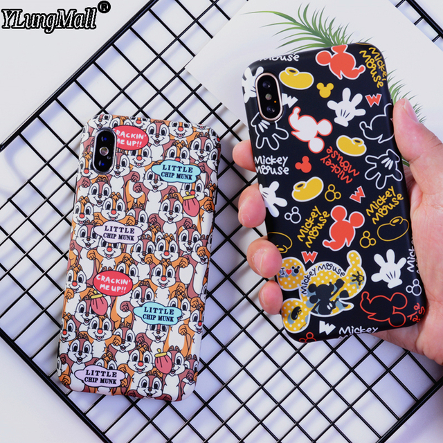 half off ca10b 91480 US $2.83 21% OFF|Aliexpress.com : Buy Case for iPhone Xs Max Case 2018 Cute  Mickey Stitch Chip Dale Soft Phone Case for iPhone Xr Xs 9 X Cover Baby ...