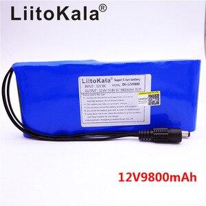 Image 2 - Супер перезаряжаемый аккумулятор HK LiitoKala, 12 В, 9800 мАч, 18650, 12 В постоянного тока, 12,6 в, портативная батарея для видеокамеры CCTV