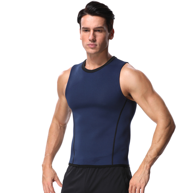 Slimming Belt Belly Men Slimming Vest Body Shaper Neoprene Abdomen Fat Burning Shaperwear Waist Sweat Corset Weight Loss Top 2