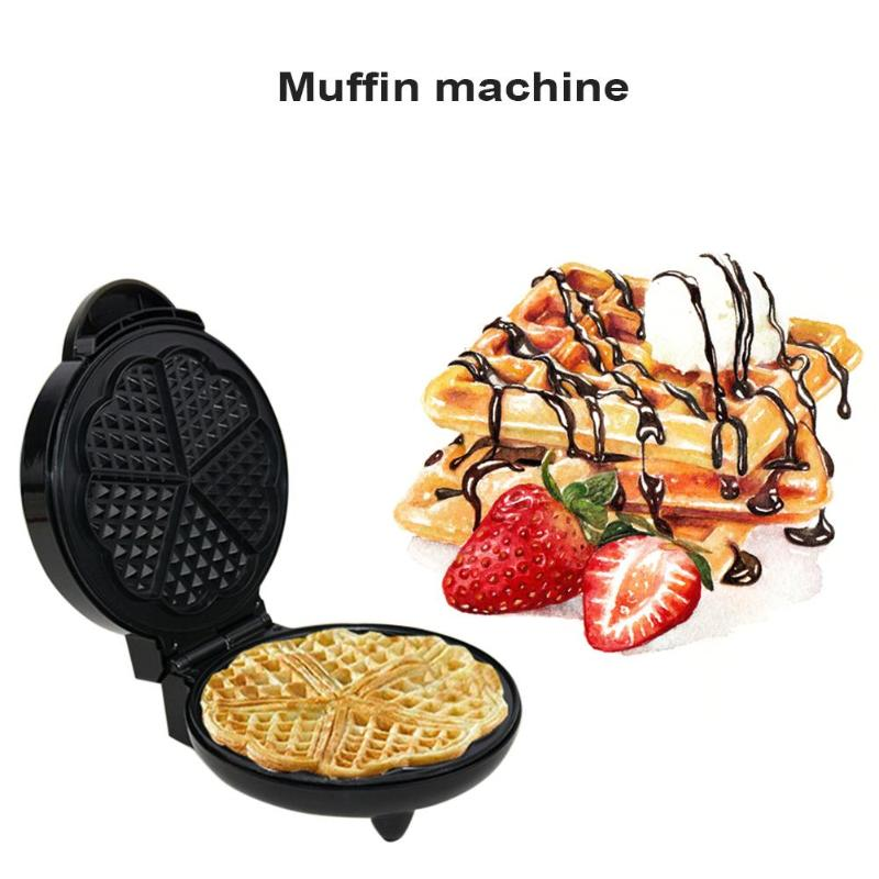 Multi functional Waffle Baking Maker Muffin Machine Double Side Heating Electric Cake Pan Breakfast Machine for Children Kids