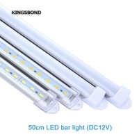 5pcs*50cm Factory Wholesale 10C to 50CM DC 12V SMD5730 LED Hard Rigid LED Strip Bar Light with PC cover DIY led strip light