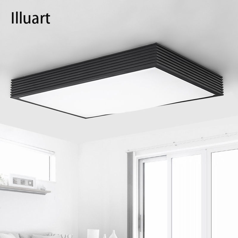 Led Light Enclosed Fixture: Surface Mounted Led Ceiling Lights For Living Room Modern
