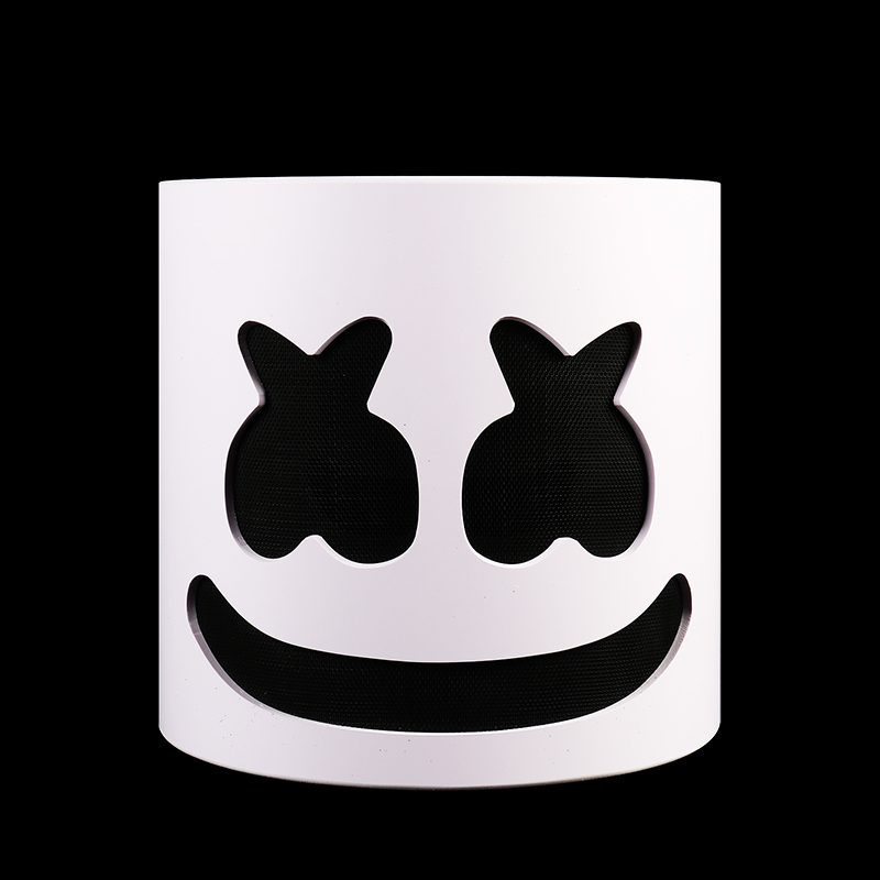 Net Type!!!PVC Marshmello DJ Mask Marshmello Mask Costume DJ Party Face Costume Marshmello Helmet DJ Concert Props Kids Gift