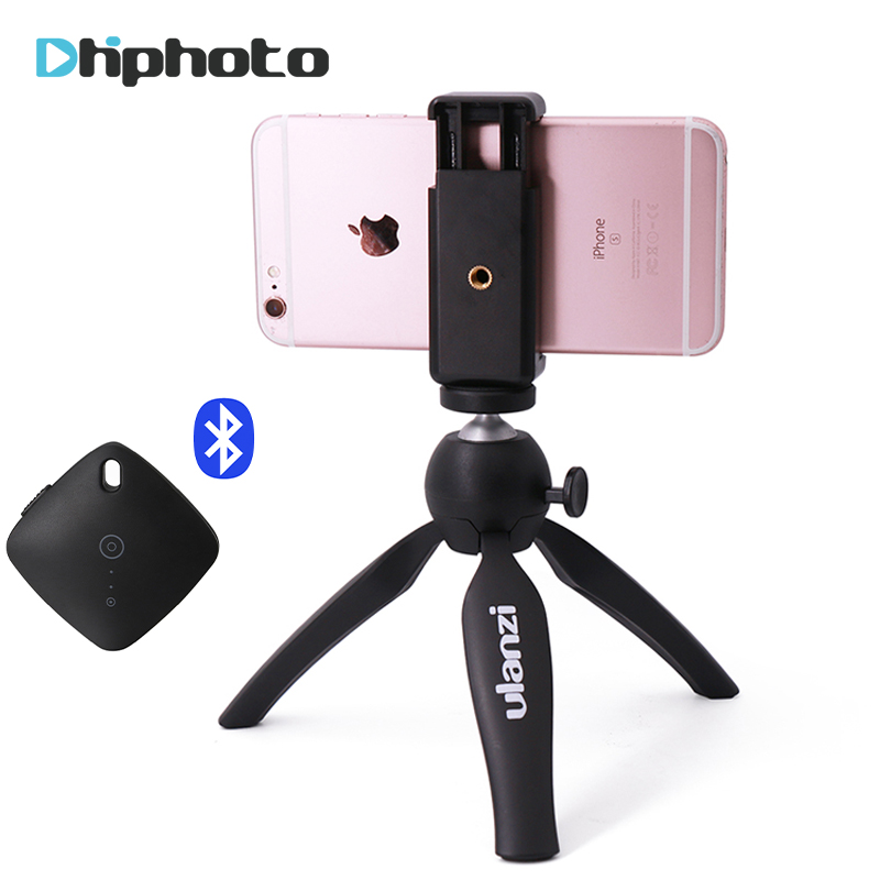 Ulanzi Mini Tripod with Phone Holder Mount, Camera Tripod Monopod for iPhone X 7 Canon Nikon Gopro Smartphone Zhiyun Smooth Q/4