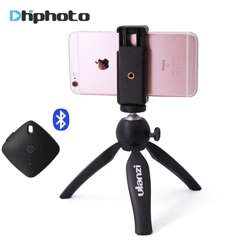 Ulanzi Mini trípode con soporte de teléfono, cámara trípode Monopod para iPhone X 7 Canon Nikon Gopro Smartphone Zhiyun Smooth Q/4