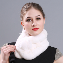MIARA.L new  autumn and winter fashion scarf rex rabbit hair thickened three warm 100 with fur wholesale