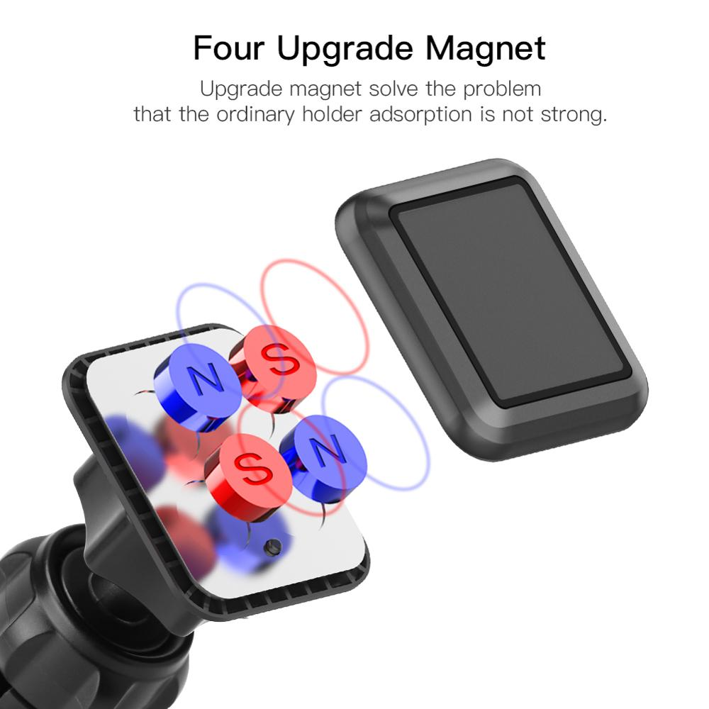 metrans magnetic car phone holder with 360 degree rotation and air vent holder