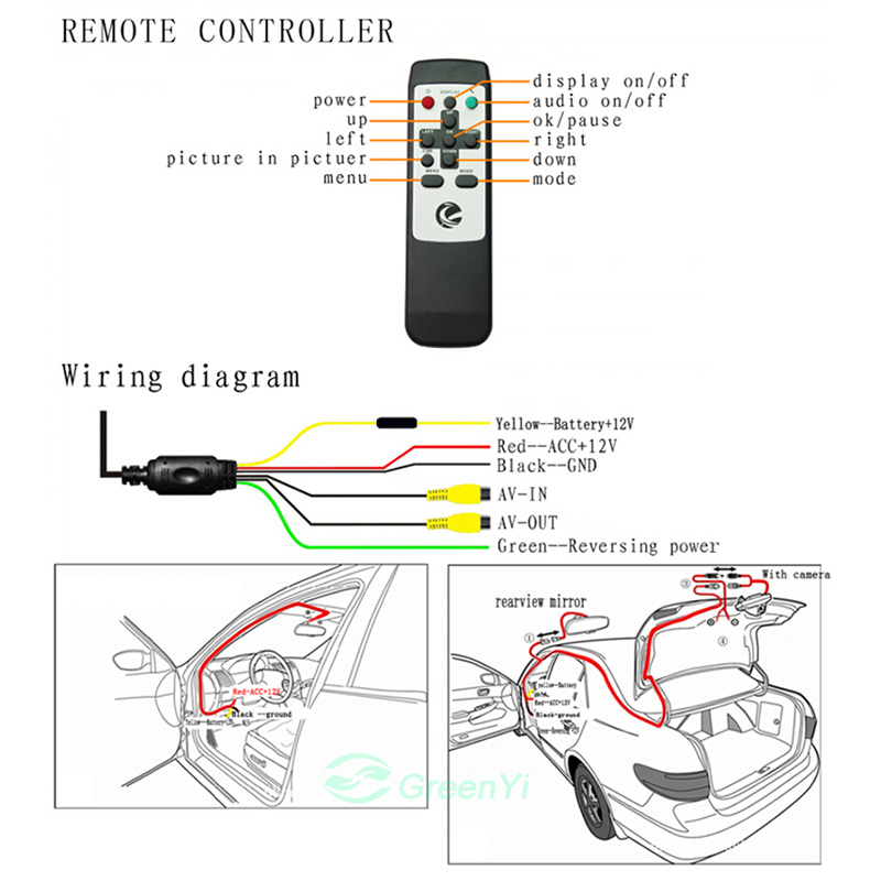 Grenauto Dual Lens 4.3 Car Rearview Mirror DVR Video Recorder With on power window relay diagram, rear view mirror parts, rear view mirror tools, rear view mirror adjustment, rear view window charms, rear view mirror shock absorber, rear view mirror frame, rear view side mirror diagram, rear view mirror decorations, rear view mirror piston, rear view mirror power, rear view mirror heater, rear view mirror accessories, rear view mirror clock, rear view mirror ford, 2008 f150 side mirror diagram, rear view mirror repair, rear view camera wiring, rear view mirror lights, rear view mirror cover,