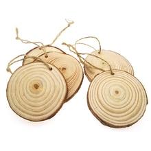 ФОТО ergomagic 10pcs/bag 7-8cm pine wood slices for diy crafts wedding centerpieces wood tree rings decoration wooden pile ornaments