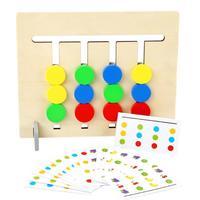 Деревянные Монтессори четыре цвета фрукты логика головоломки игра Дети Ранние развивающие игрушки Набор Развивающие деревянные игрушки п