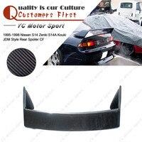 Car Accessories Carbon Fiber Rear Spoiler Fit For 1995 1998 S14 Zenki S14A Kouki JDM Style Trunk Spoiler Wing|rear spoiler|carbon fiber spoilerjdm spoiler -