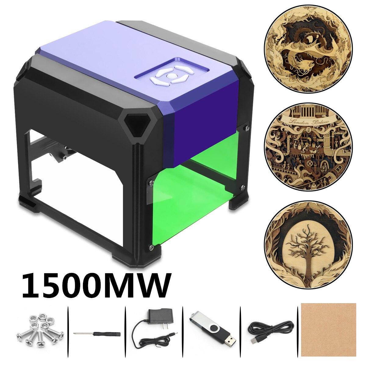 1000 mw/1500 mw USB Desktop Laser Gravur Maschine Drucker Cutter DIY Logo Kennzeichnung Mini CNC Gravur Carving 80 x 80mm für Windows