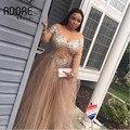 Africano sexy querida plus size vestido de noite prom dress 2017 com completo manga lace apliques de tule para a menina preta vestidos de regresso a casa