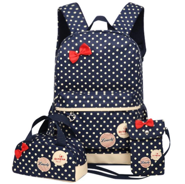 Printing School Bags For Girls Kids School Backpack 3pcs/set Children Schoolbags Fashion Orthopedic Girl BackpacksPrinting School Bags For Girls Kids School Backpack 3pcs/set Children Schoolbags Fashion Orthopedic Girl Backpacks