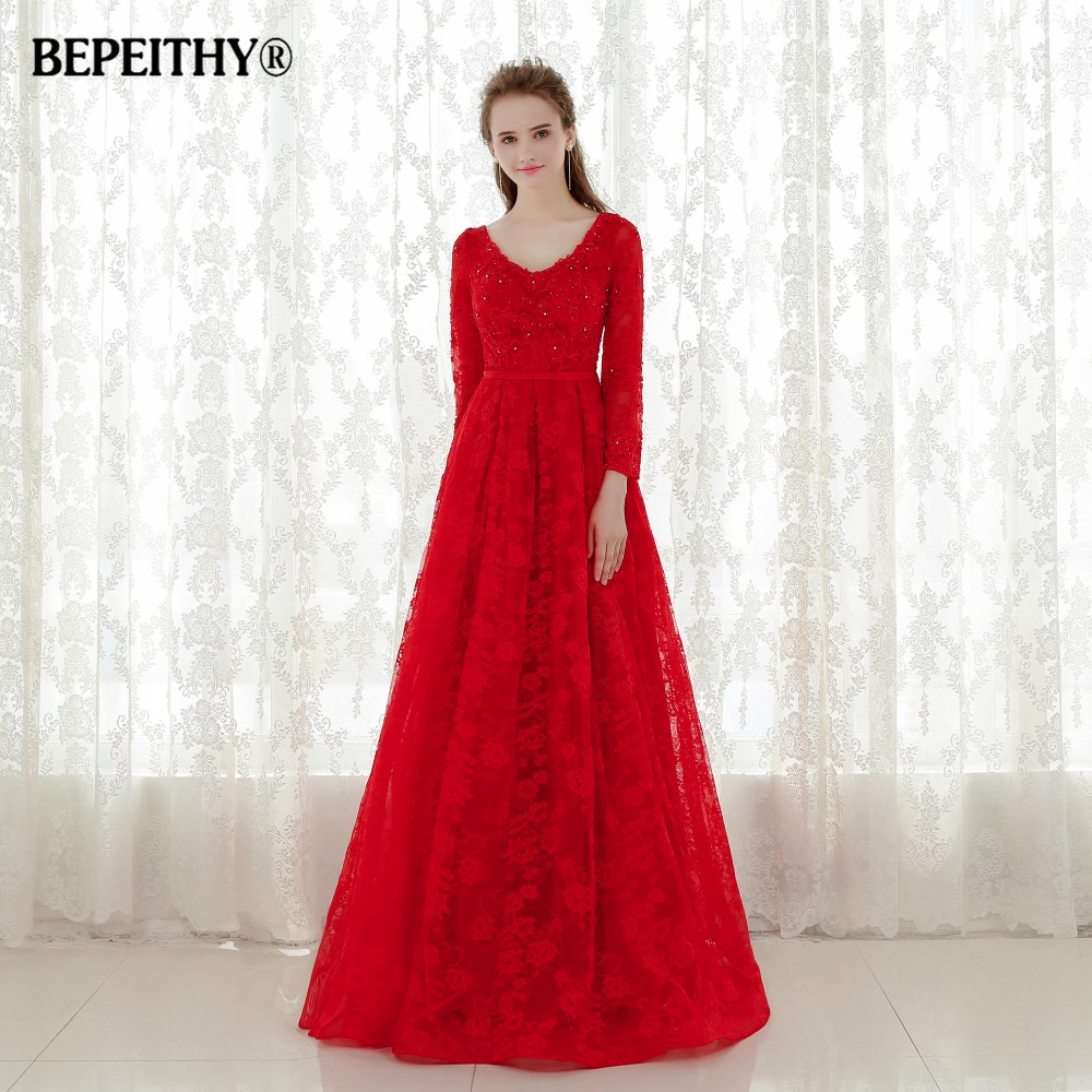 Hot Sale Lace Long Evening   Dresses   Party Elegant 2015 Vestido De Festa Longo Floor Length   Prom     Dress   With Sleeves Fast Shipping