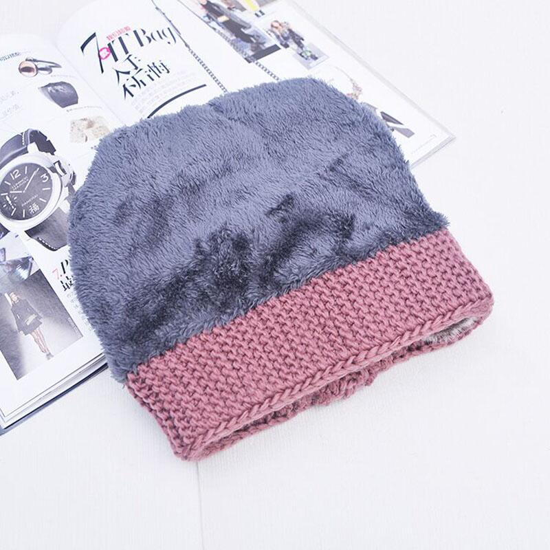 e2f6898a61c Winter Hat Knitted women Winter Cap 2018 Mom Casual Solid Thick super Warm  Plus Velvet Beanie Cap skullies beanies free shipping-in Skullies   Beanies  from ...
