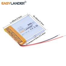 Bateria de Polímero LI para Gps 554040 3.7 V 950 Mah Recarregável de Mp4 Pda Speaker Dvr Pequeno Brinquedos Energia Móvel E-book 3 Fios Arame
