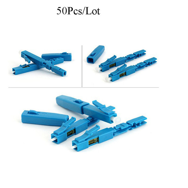 50PCS 100PCS FTTH LC fast connectorUPC APC single mode SM telecom level communication equipment optical fibre field connector