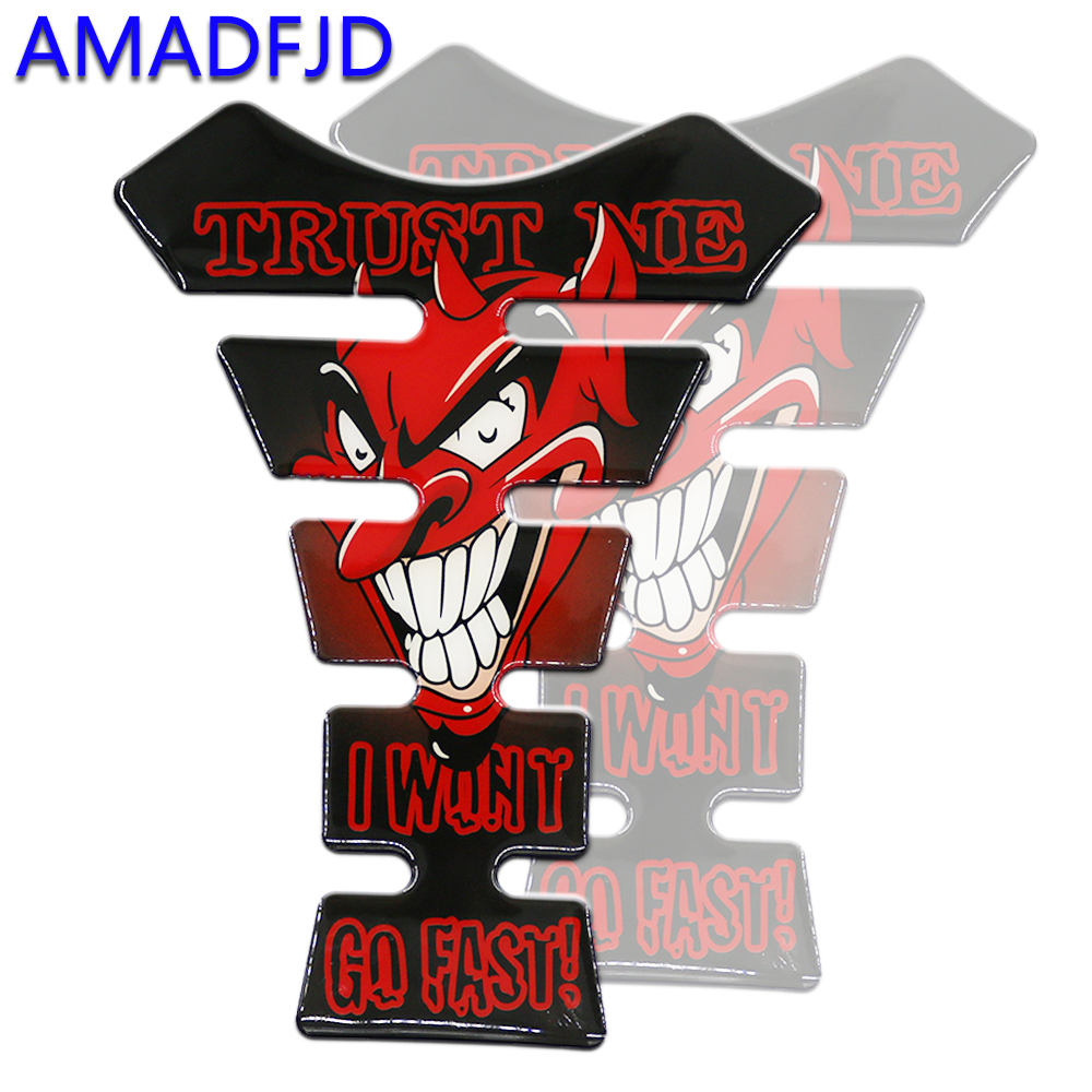AMADFJD 3D Skull Logo Motorcycle Sticker Tankpad Motorcycle On Sticker Tank Pad Motorbike Accessories Racing Protector Decals