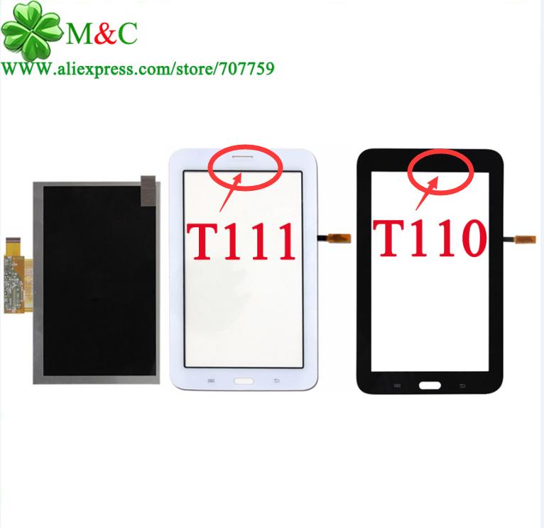 ФОТО New T111 T110 LCD Touch Panel For Samsung Galaxy Tab 3 Lite 7.0 T110 T111 LCD Display Touch Screen Digitizer Glass Panel