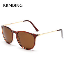 KRMDING 2019 Fashion retro ladies sunglasses new men  women alloy frame classic brand designer shadow Oculos