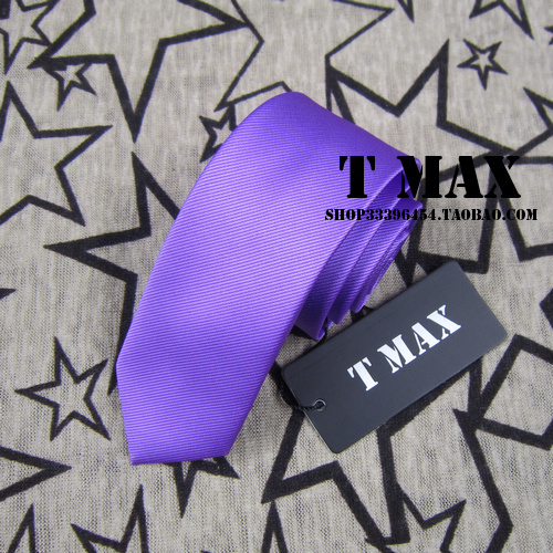 T max light purple tie male 5.5cm tie formal casual married commercial tie