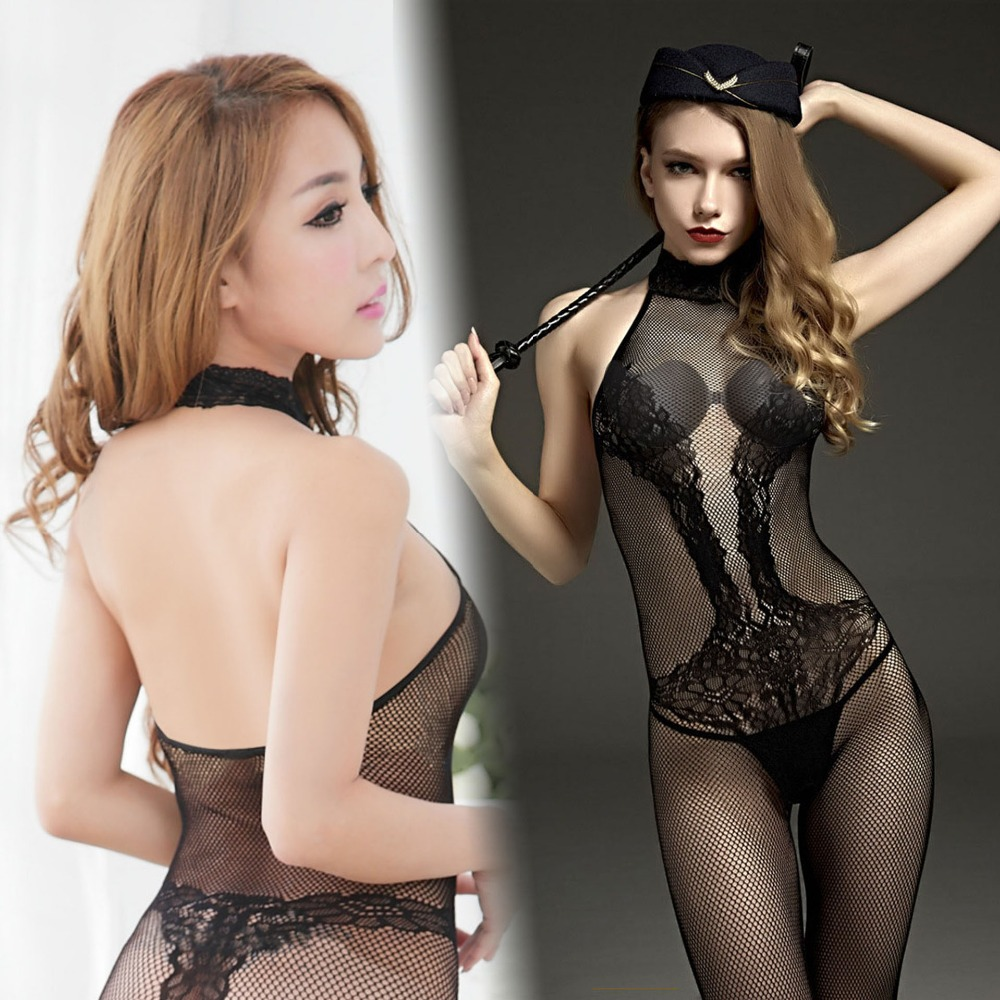 Open Crotch Body Stocking Whips Lingerie Lady Erotic Porn Sexy Costumes Nightwear fishNet Intimates crop Cosplay Games for woman image