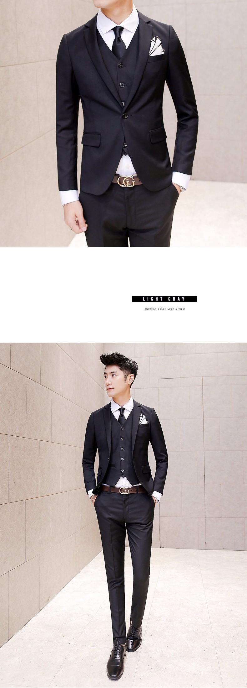 black prom clothes for men