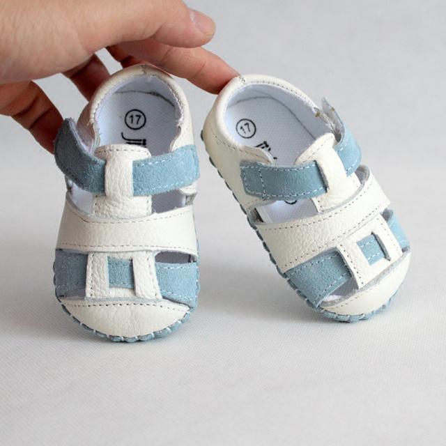 Baby first walkers chinelos de verão 0-1-2 sapatos de couro anti-slip suave sapatos de bebê para casa e sapatos fora FW-007