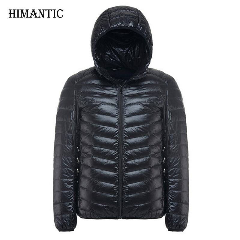 2017 Autumn Winter Jacket Men Causal Hooded Ultralight Jackets And Coats jaqueta masculino Mens Plus size 3XL Outwear Parka