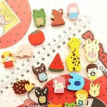Fridge Magnet Wooden Fruit Stationery Educational-Supplies Animal Cartoon Fun Nontoxic